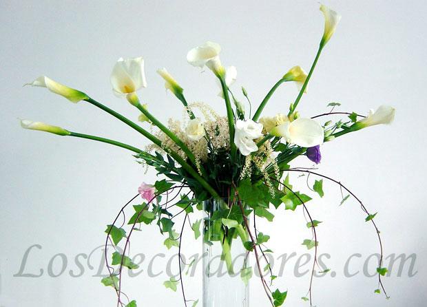Arreglos Florales Con Calas Cheap Florera With Arreglos Florales